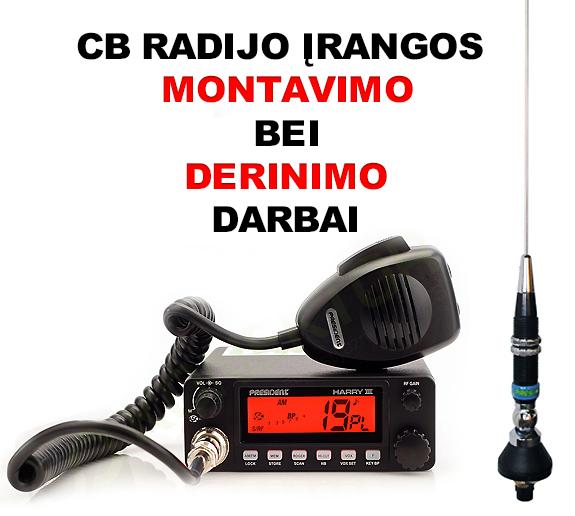 CB radijo įrangos montavimas